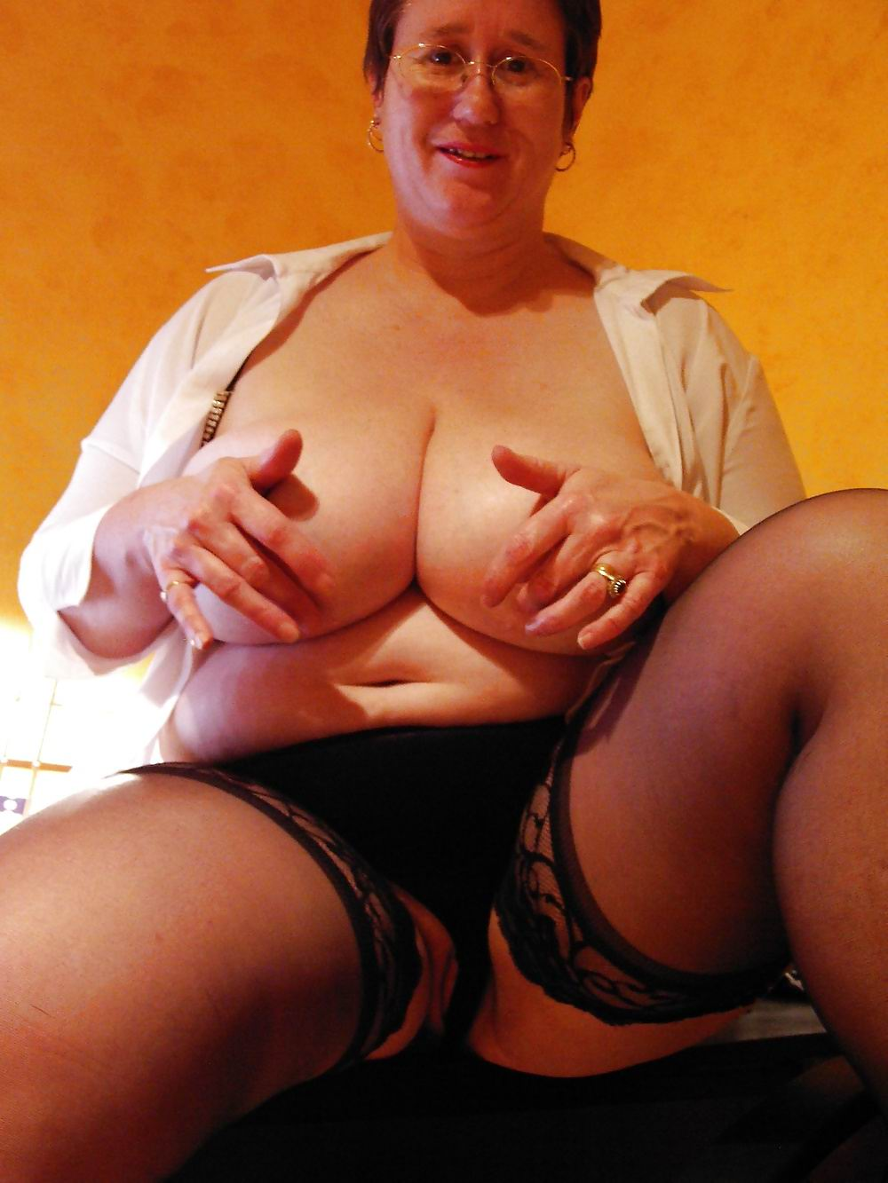 Mature granny boobs
