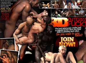 3d interracial hardcore