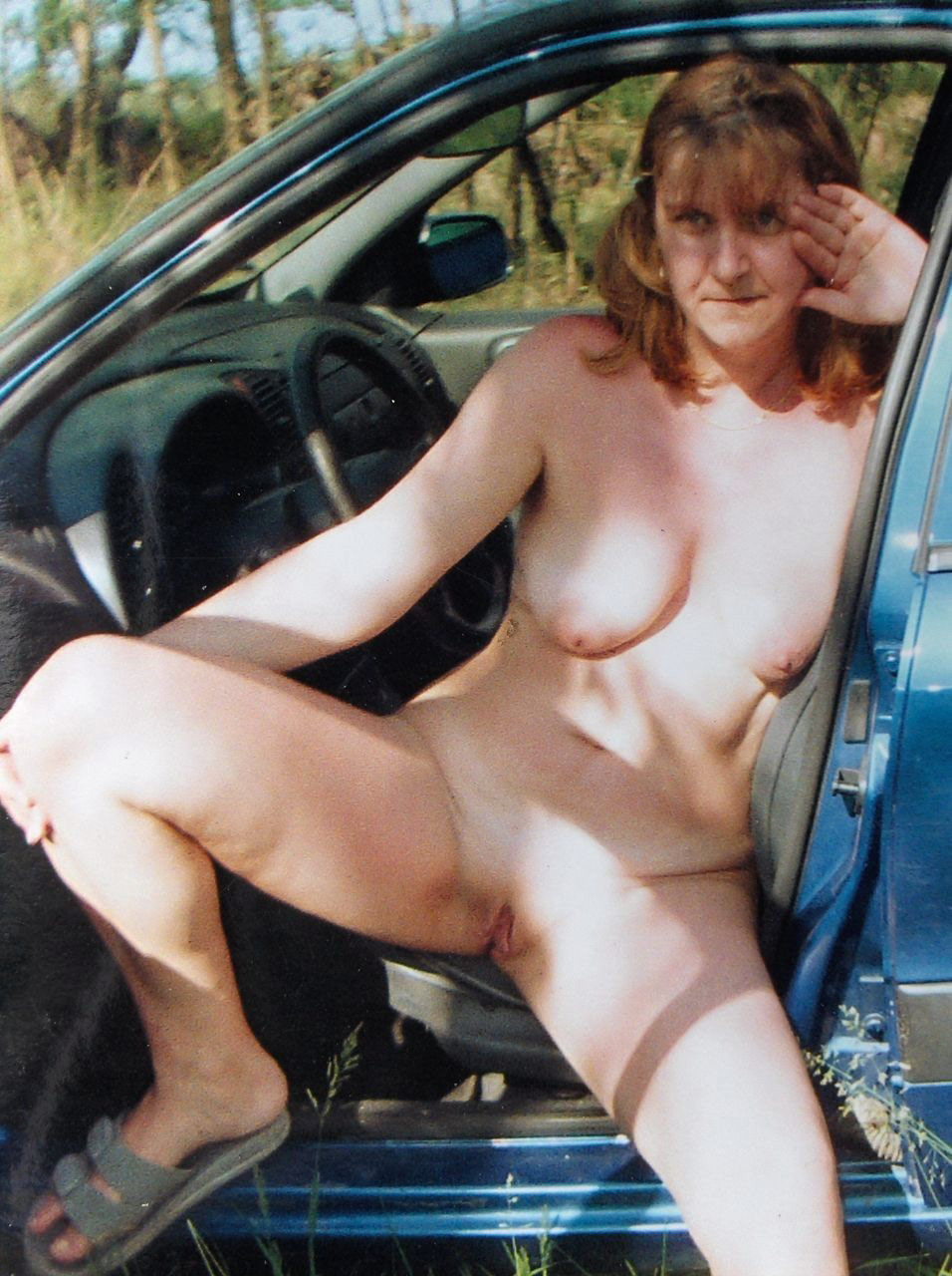 You are Girl drives car nude variant