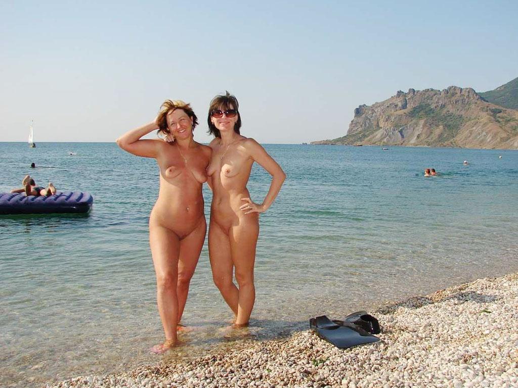 Русские голые частное пляж фото