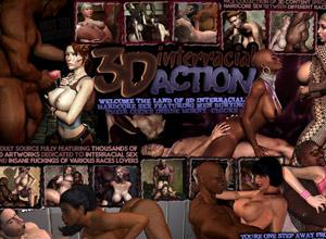 interracial 3d action