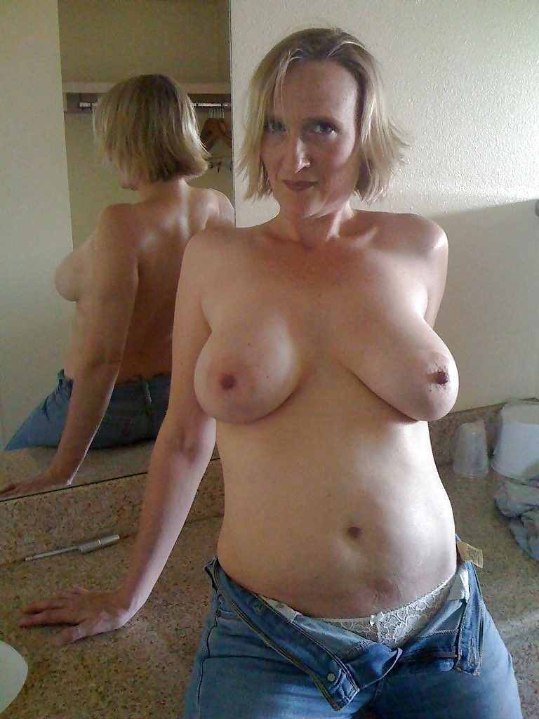 Horny Big Breasted Amateur Wife Exposed